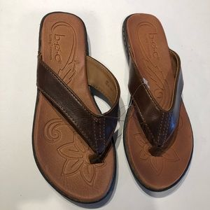 BOC leather brown sandal size 6M leather upper new